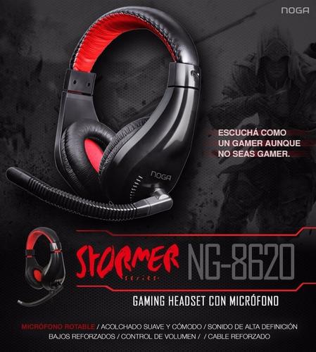 auricular gamer noga stormer ng 8620 headset microfono envio