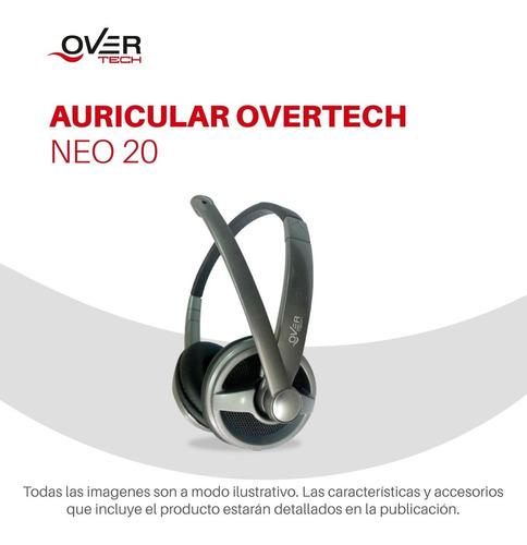 auricular gamer overtech neo 20 microfono pc o notebook pc