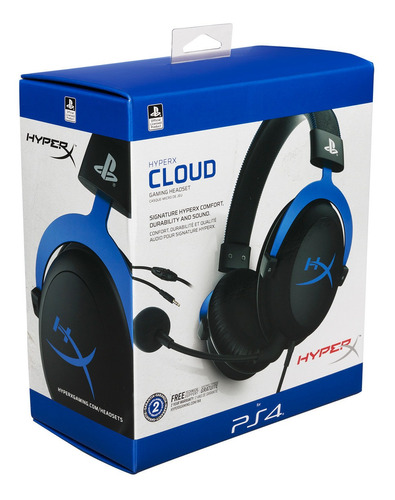 auricular gamer ps4 kingston hyperx cloud stinger blue
