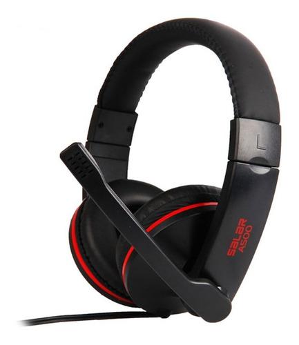 auricular gamer salar a500 (usb 7.1, adaptador para celular)