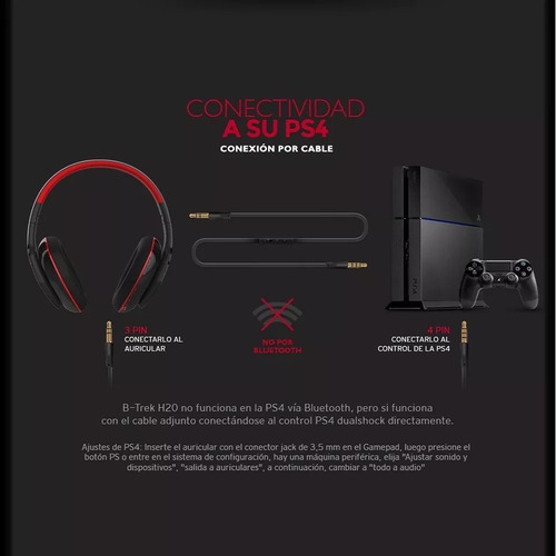 auricular gamer sentey h20 bluetooth c/mic p/ps4 -xbox-pc