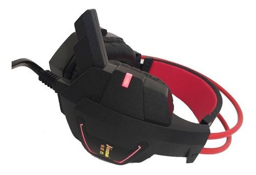 auricular gamer x5 led súper bajos