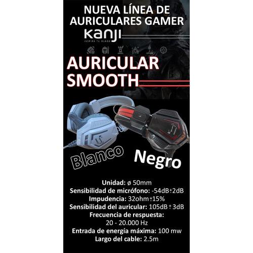 auricular gammer con microfono kanji smooth