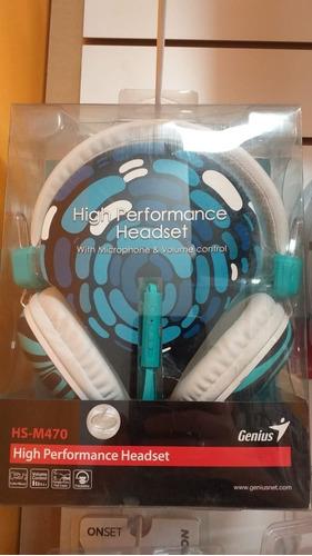 auricular genius 470 con vincha y microfono