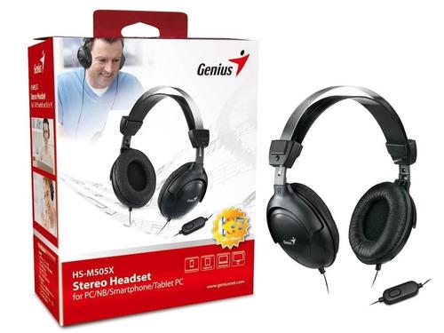 auricular genius hs m505x vincha c/mic tablet celular ps4