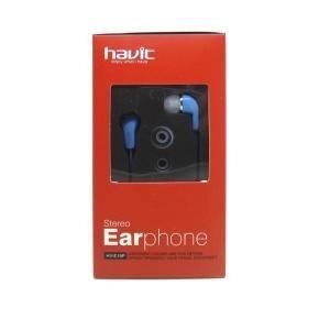 auricular havit c/ microfono color azul - hv-e19p-bl