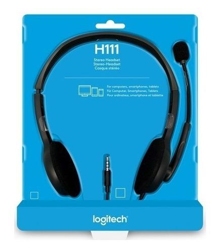 auricular headset vincha logitech h111 con mic - skype ps4