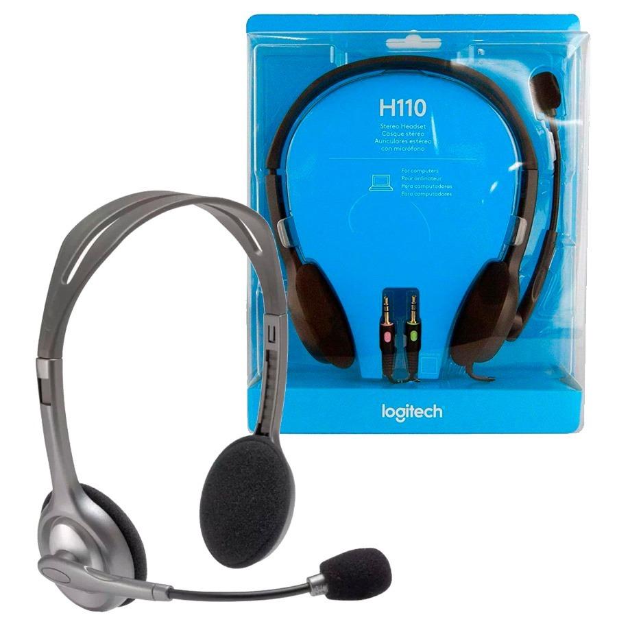 Auricular Logitech H110 Vincha Headset Microfono 30024 En Stereo Cargando Zoom