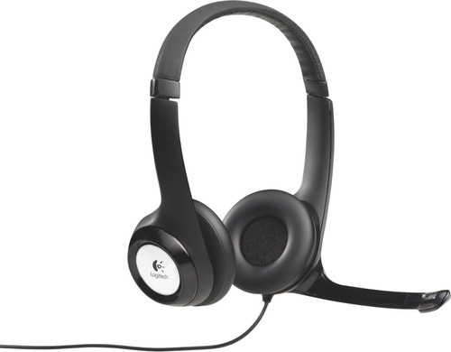 auricular logitech h390 con microfono negro usb para pc-ms