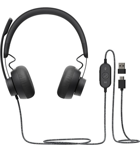 auricular logitech headset zone wired con noise cancelling