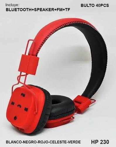 auricular madison bluetooth vincha memoria sd llamadas hp230