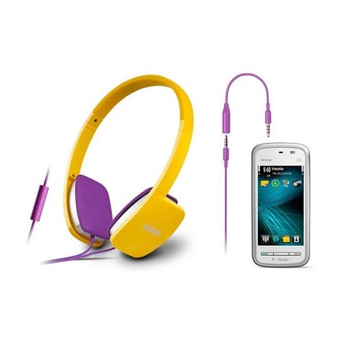 auricular + mic edifier h640p yellow