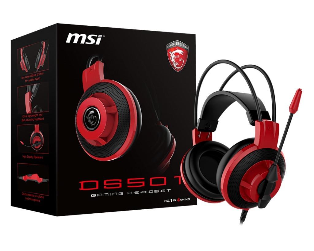 Auricular Msi Ds501 Con C/mic Gaming +c/ Volumen +ficha 3.5