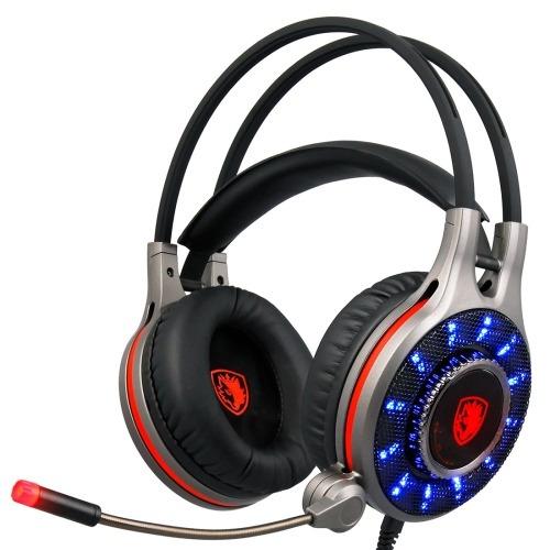 auricular multimedia headset sade r11 usb gaming 7.1 canal