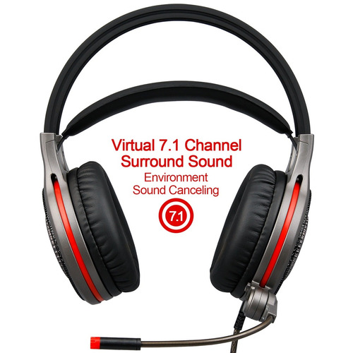 auricular multimedia headset sade r11 usb gaming 7.1 canal