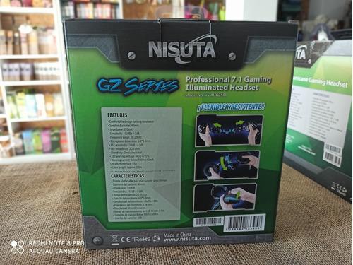 auricular nisuta con luces led ns-augz500 con software.