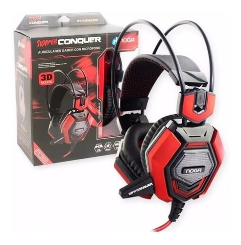 auricular noganet conquer gamer pc c/mic control volumen