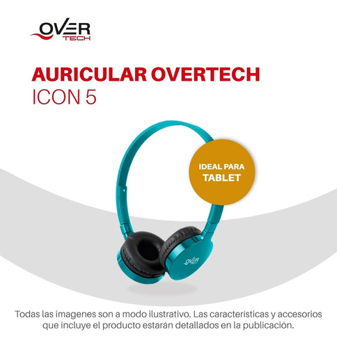 auricular overtech icon 5 c microfono ideal pc o cel pc