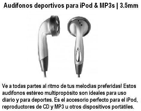 auricular  para radios iphone y mp3