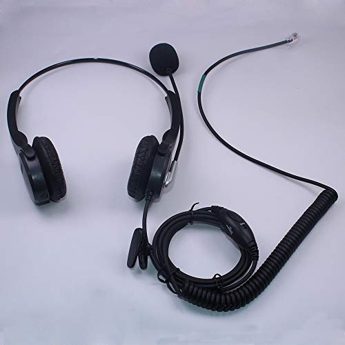 auricular para teléfono con cable callez c402y1 biauricular
