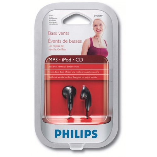 auricular philips she1360 alta fidelidad - factura a / b