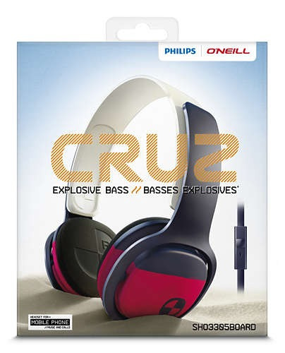 auricular philips sho3305 o'neill color microfono surf soft