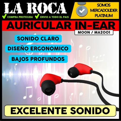 auricular profesional intraural in ear moon ma2001 la roca - cuotas