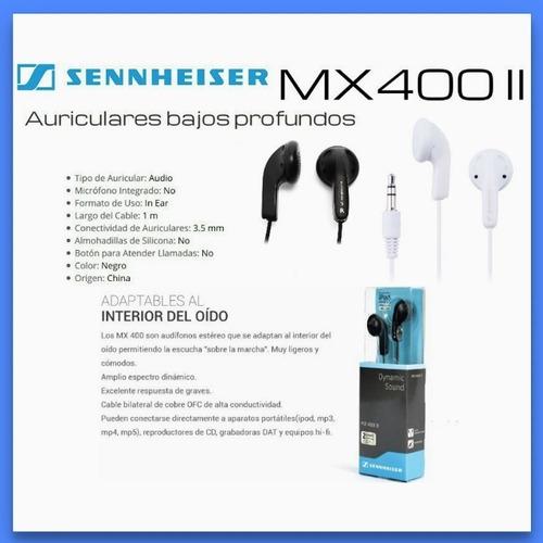 auricular sennheiser mx400 ii colores blanco