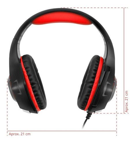 auricular sentey combat gs-4371 luz led gaming micrófono pc