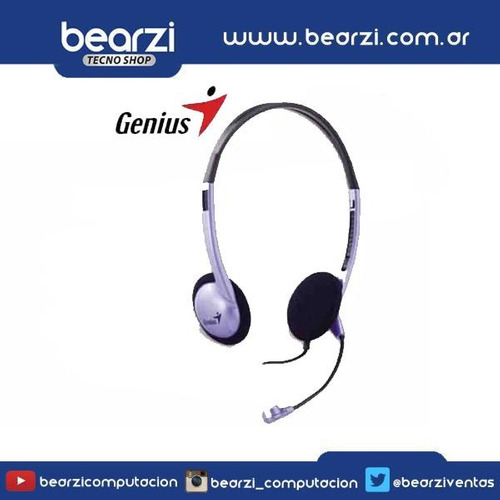 auricular  vincha genius hs 02b c/ microfono