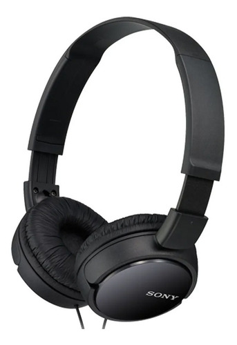 auriculares 3.5 mm sony plegables super bass mdr-zx110 negro