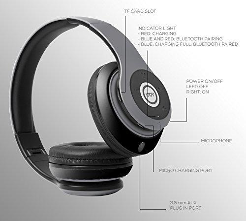 auriculares almohadillasdos ijoy plegables inalámbricos c/bt