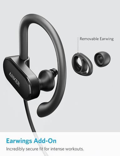 auriculares - anker soundbuds curve 18hs bluetooth 5.0 ipx7