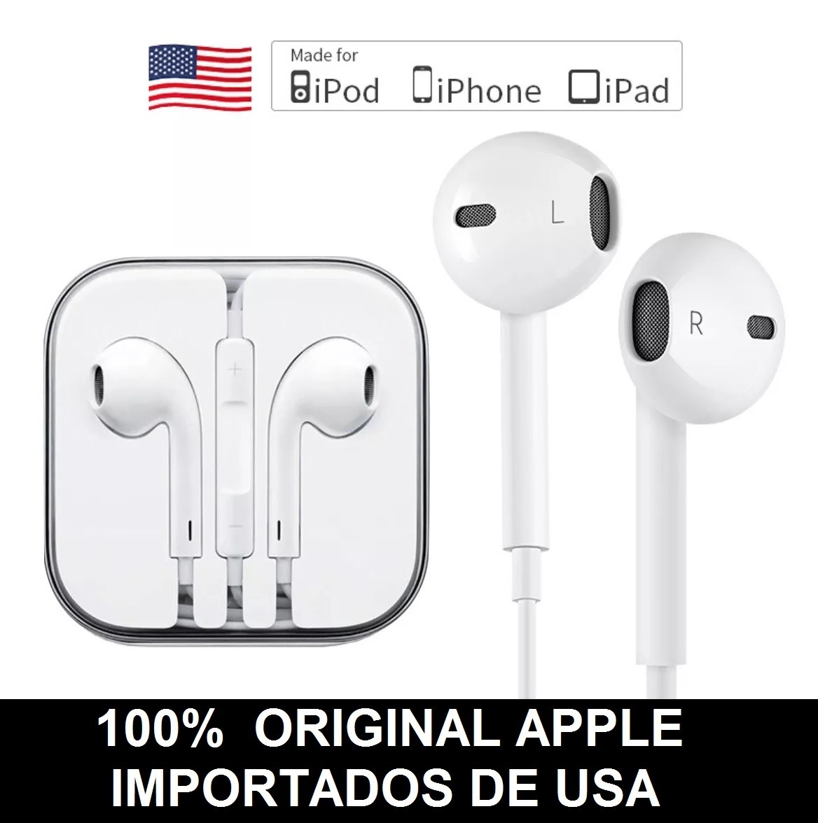 a26a7e2927d auriculares apple earpods original no copia se 5s 6/6s plus. Cargando zoom.