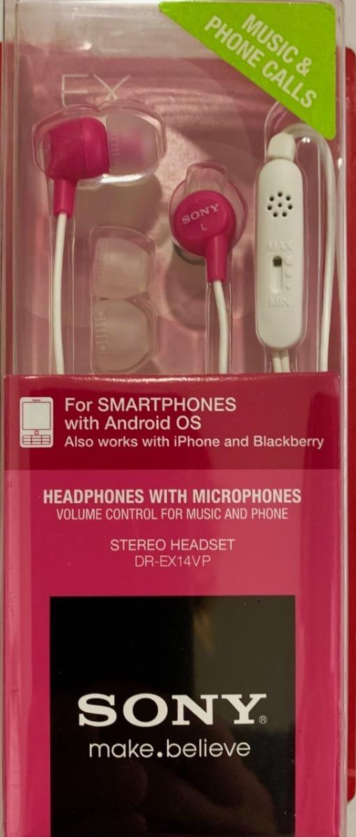 6be5fdb28d1 auriculares auricular sony drex14vp / vlt para ipod, iphone. Cargando zoom.