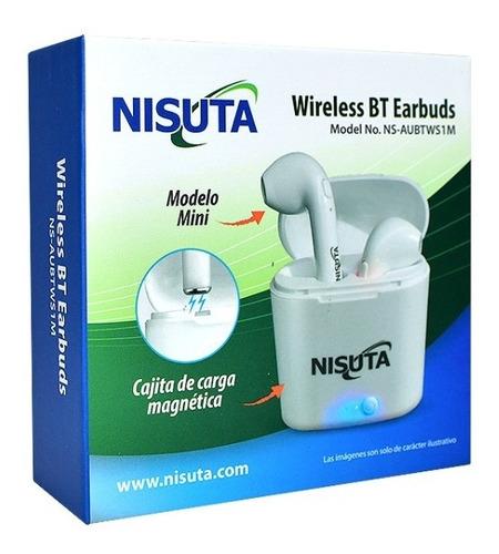 auriculares bluetooth +5.0 inalambricos nisuta pro in ear