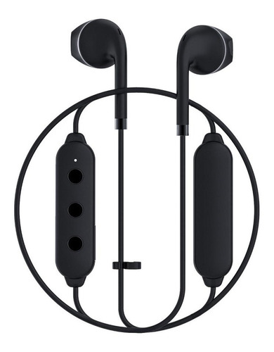 auriculares bluetooth happy plugs wireless ii - black  negro