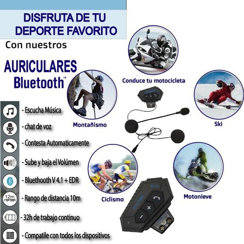 auriculares bluetooth para cascos. modelo bt-12