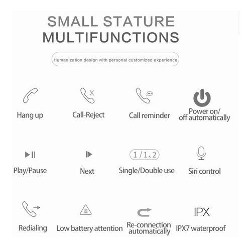 auriculares bluetooth v5.0 con power bank 1600mah