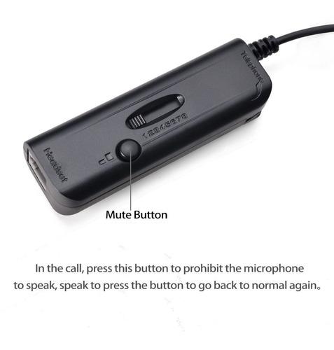auriculares con cable binaurales agptek, call center