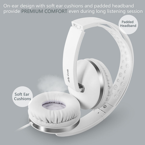 auriculares con micrófono, jelly comb foldable auriculares c