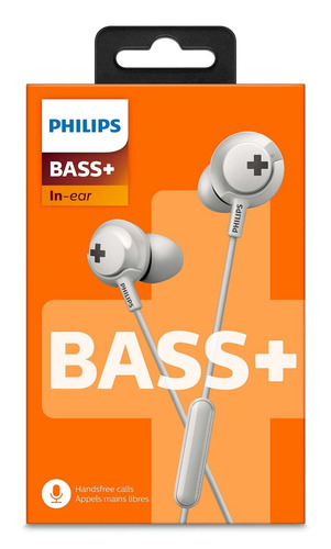 auriculares con microfono philips bass + she4305wt/00