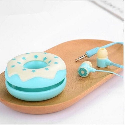 auriculares de 3,5 mm stereo con micrófono y estuche donas