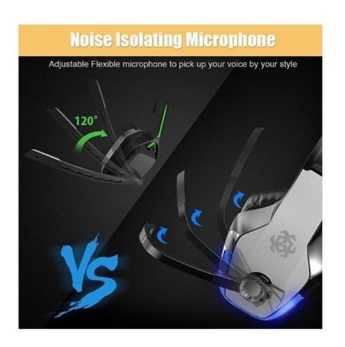 auriculares de diadema para xbox one, ps4, pc, con micrófono
