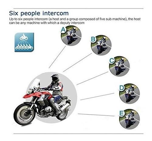 auriculares de intercomunicacion de bluetooth de la motocicl