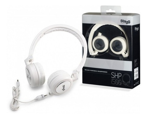 auriculares deluxe stereo blanco stagg shpi500whh