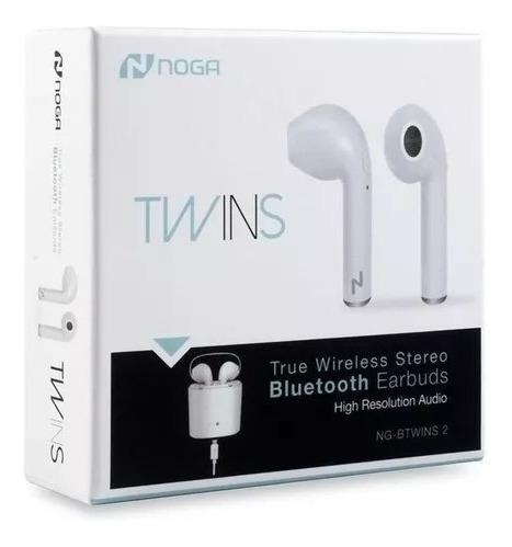 auriculares earpods noga twins inalambricos base carga