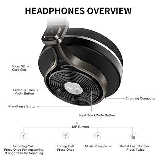 auriculares en la oreja,bluedio t3 plus (turbine 3rd) bl..