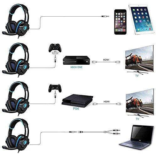 auriculares estéreo de juego, sades sa708gt auriculares pa