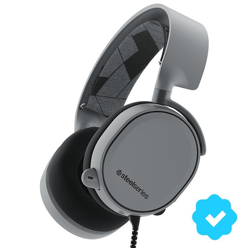 auriculares gamer 7.1 steelseries arctis 3 slate grey pc ps4
